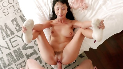 Asian,MILF,Natural,Seduced,Socks