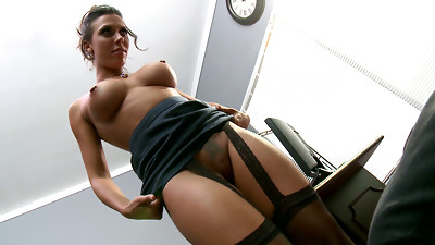 Ass licking,Big Ass,Black and Ebony,Brunette,Femdom,Lingerie,Office,Pornstar,Secretary,Stockings