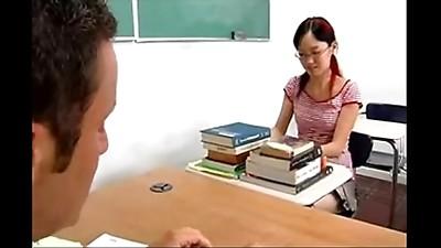 Asian,Glasses,Petite,School,Small Tits,Student