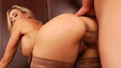 Big Ass,Big Boobs,Big Cock,Blonde,Cumshot,Glasses,MILF,Stepmom,Stockings