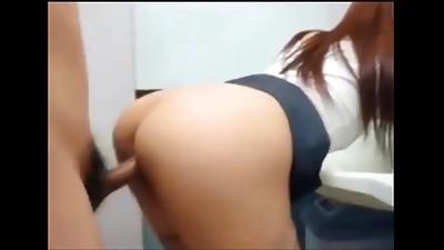 Amateur,Asian,Bathroom,Big Ass,Couple,Creampie,Cumshot,Fucking,Girlfriend,Homemade