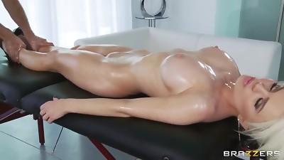 Anal,Big Ass,Big Boobs,Blonde,British,Massage,Oiled,POV,Wet